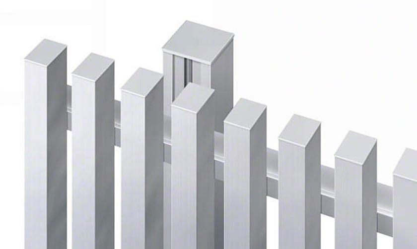 フェンス拡大画像 エルファード片面 1型 たて格子 高尺タイプ 三協アルミ