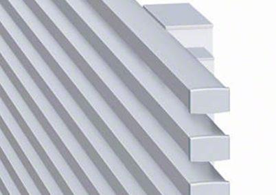 フェンス拡大画像 片面 3型 横細格子エルファード 高尺タイプ三協アルミ