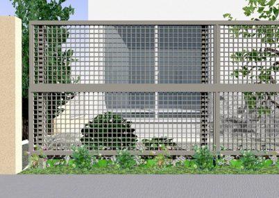 7型 井桁格子 アルミ多段柱仕様 ライシスフェンス LIXIL