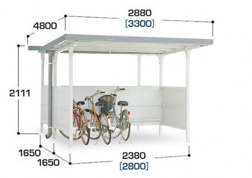 図面画像 BF背中合わせタイプ 独立タイプ 一般型 イナバ自転車置場