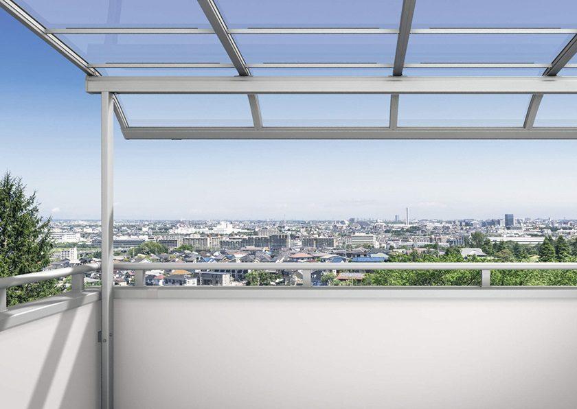 内観図面画像 三協アルミ レボリューA R型 屋根タイプ 単体