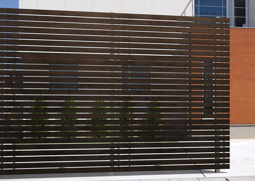 M4型 木調横板格子エルファード片面 高尺タイプ三協アルミ