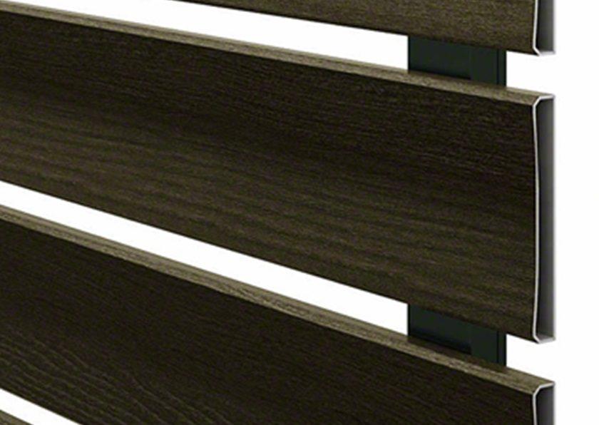 フェンス拡大画像 H07型 横板 ルシアスフェンス 木調 YKKAP