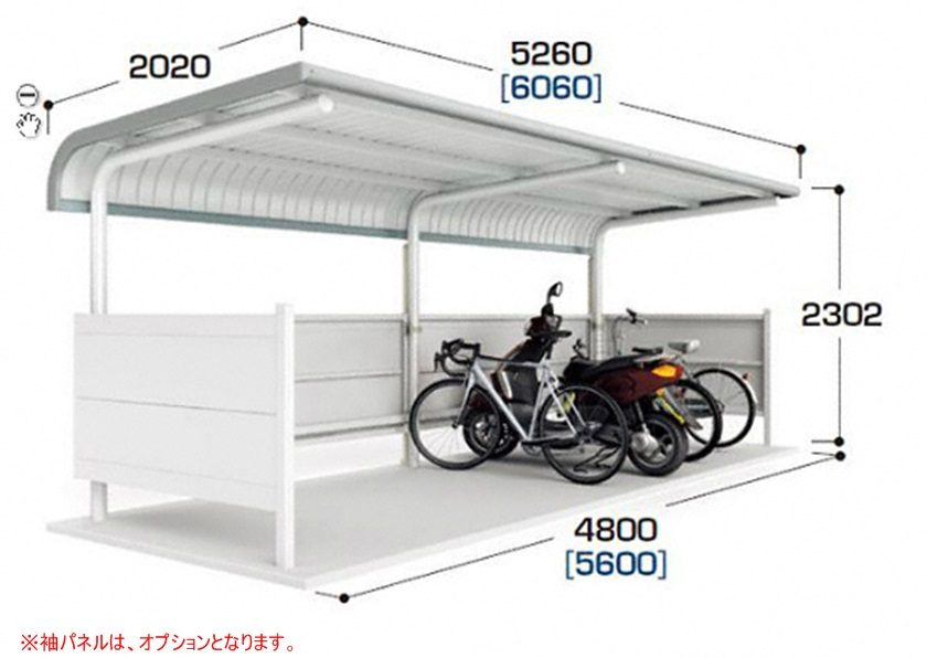 図面画像 BPタイプ 一般型 2連続タイプ イナバ自転車置場イナバ物置