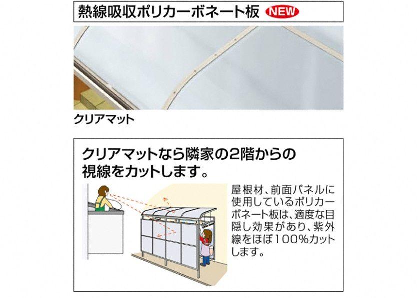 熱線遮断 バリューテラスE F型 屋根タイプ 単体 四国化成