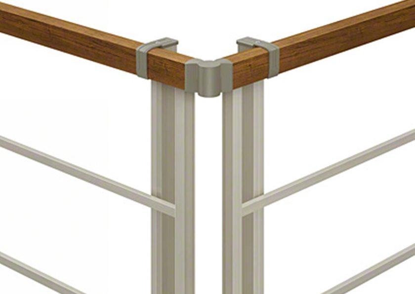 フェンス拡大画像 H05型 横格子 ルシアスフェンス 木調 YKKAP