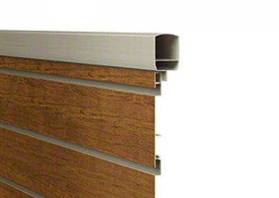フェンス拡大画像 F02型 横目隠し 木調 ルシアスフェンス YKKAP
