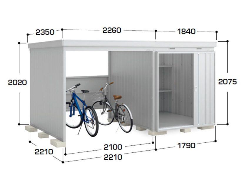 サイズ画像 イナバ物置 ネクスタウィズ 一般型 右扉タイプ