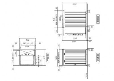 図面画像 イナバ物置 ネクスタ 一般型