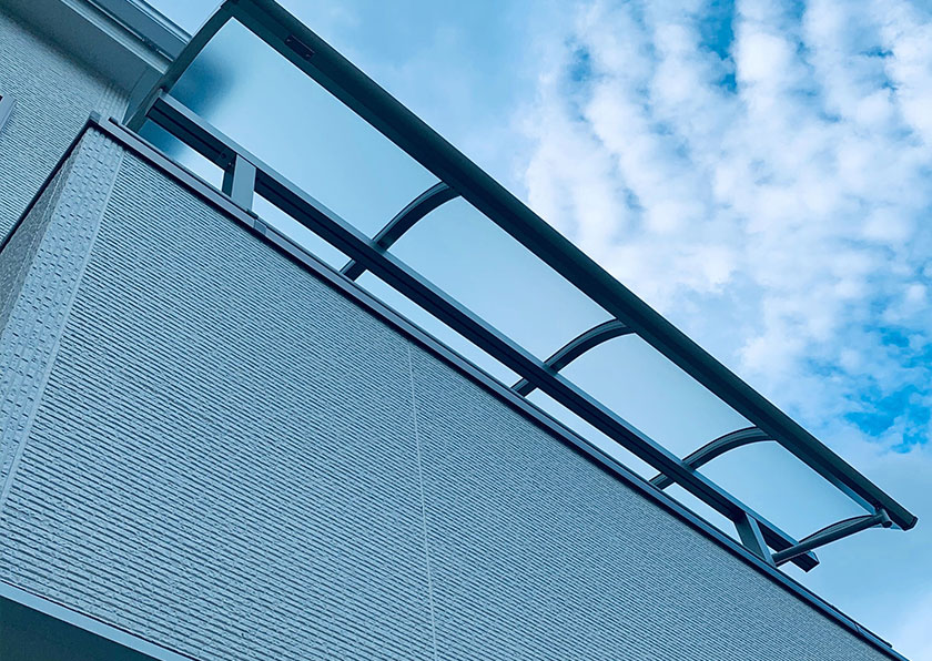 デザインも豊富なバルコニー屋根