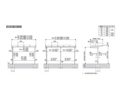 セパーネL 2~5台用 2本柱 三協アルミ