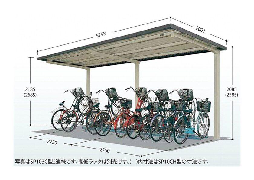 図面画像 タクボ 自転車置場 SP10C 基本棟