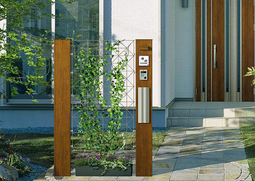 ポスト、表札一体式のオススメ「機能門柱」