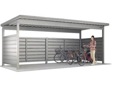 KWAタイプ 基本棟 2段壁仕様 一般地用 ヨドコウ ヨド自転車置場