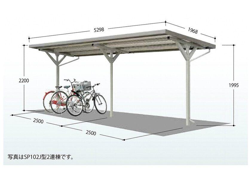 図面画像 タクボ 自転車置場 SP10J 基本棟
