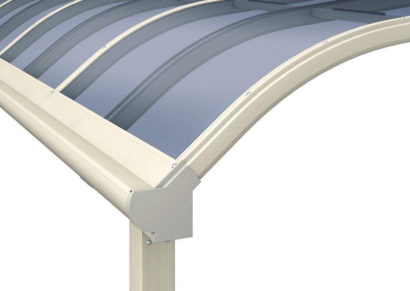 R型拡大屋根画像 三協アルミ レボリューA R型 テラスタイプ 2連棟 3間/3~6尺