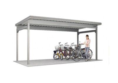 ヨドコウ ヨド自転車置場 KWAタイプ 基本棟 壁パネルなし 一般地用