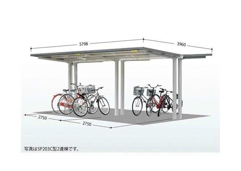 サイズ画面 タクボ 自転車置場 SP20C 基本棟