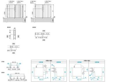 図面画像 片開き リフレア4型 三協アルミ