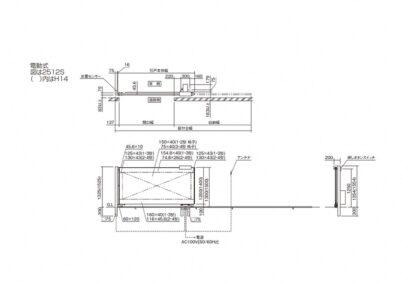 図面画像 電動式 片引き 1型 クラリス引戸 四国化成