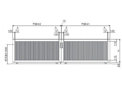 図面画像 両引きタイプ 2型 ラグード 三協アルミ