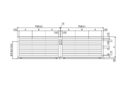 図面画像 両引きタイプ 3型 ラグード 三協アルミ