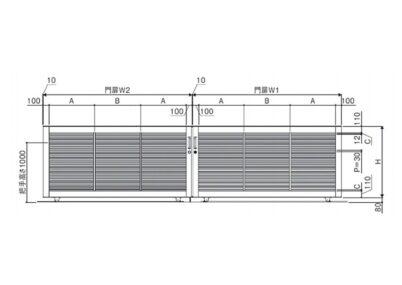 図面画像 両引きタイプ 1型 ラグード 三協アルミ