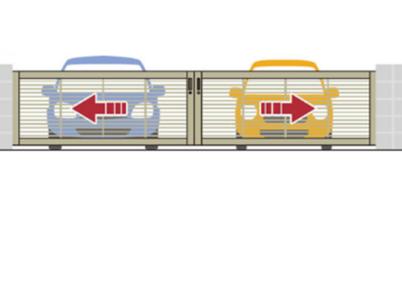 両引きタイプ(車2台駐車)