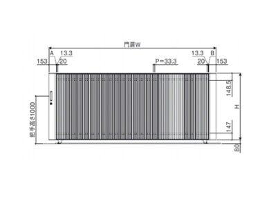 図面画像 片引きタイプ 5型 ラグード 三協アルミ